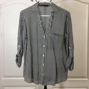 Striped button down by Zara basics